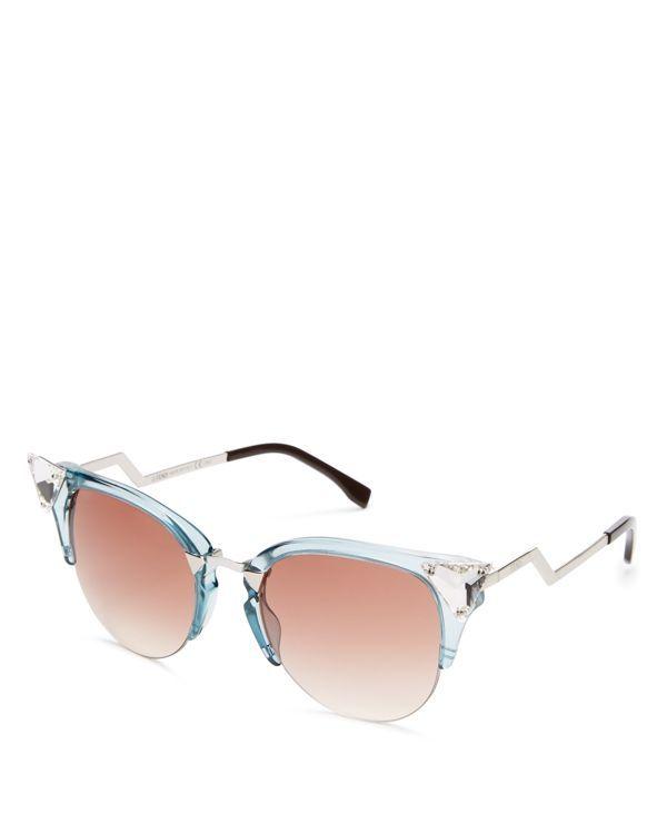 Fendi Iridia Cat Eye Sunglasses, 52mm