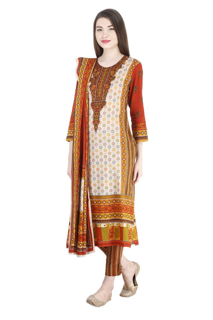 100 Pakistani Bridal Dresses 2018 For Wedding Parties 8: 64 Best Uptown Women's Stitched 100% Pakistani Printed