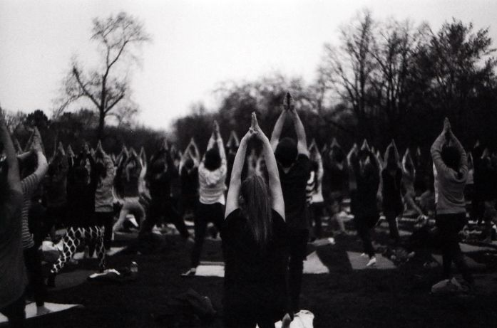 Yoga time by old camera Zenit E 🎞🕶  Prague, summer, Letná,