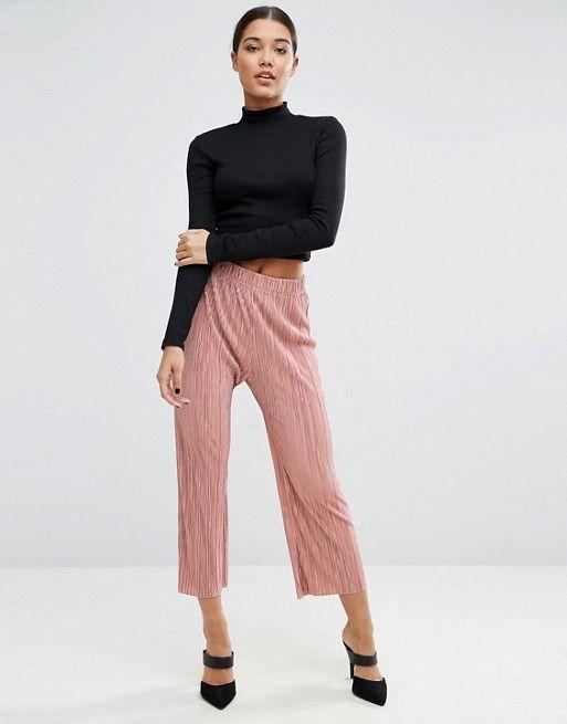 ASOS | Широкие плиссированные брюки с необработанным краем ASOS