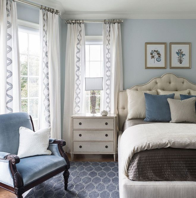 Blue bedroom paint color. Blue bedroom paint color ideas. Blue bedroom paint color names #Bluebedroom #paintcolor Heather Scott Home & Design