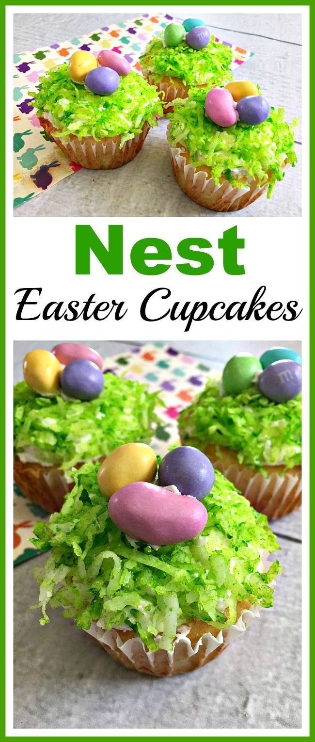 Nest Easter Cupcakes- If you want a quick, simple, but beautiful dessert to serv…   – Easter