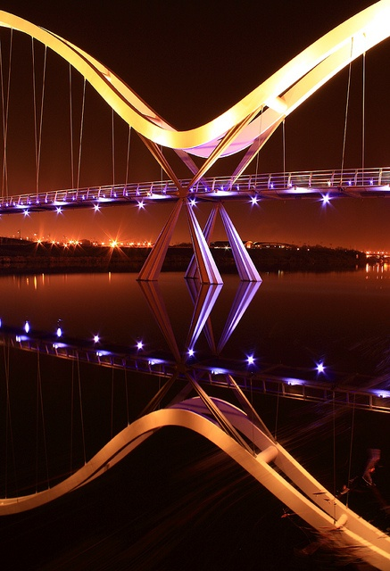 Middlesbrough Infinity Bridge Night Shot 2 by Chris and Nick Smith
