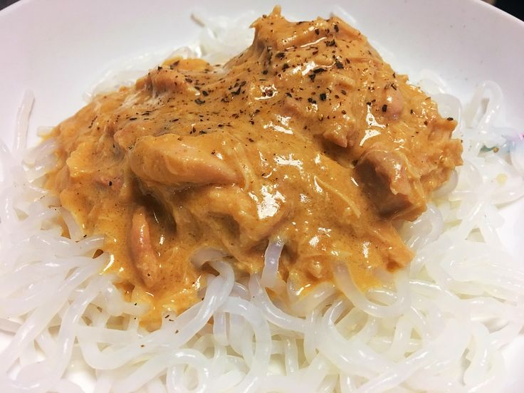 A creamy peanut butter chicken that's perfect for those wanting low carb