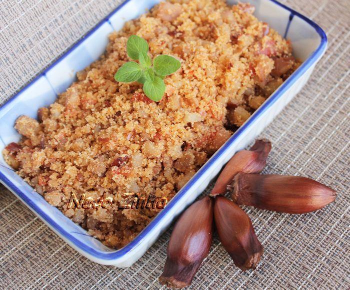 Farofa de pinhão » NacoZinha - Blog de culinária, gastronomia e flores - Gina