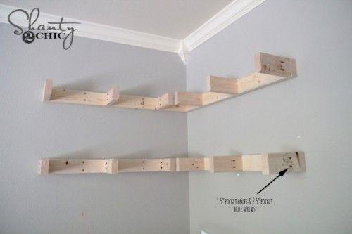 How to build corner floating shelves