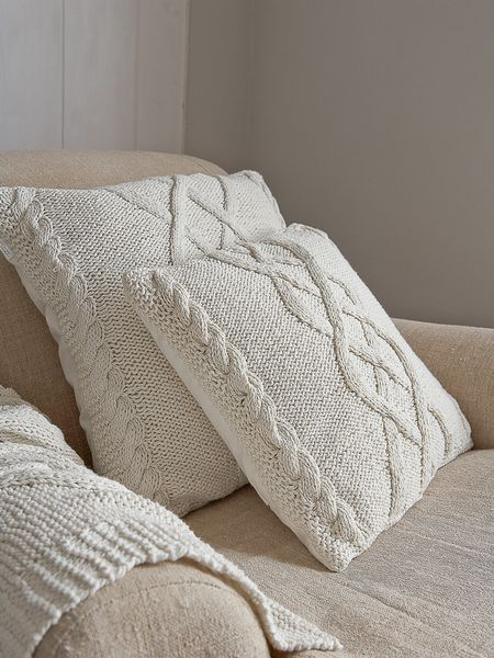 Cable Knit Bandas - Antiguo Blanca