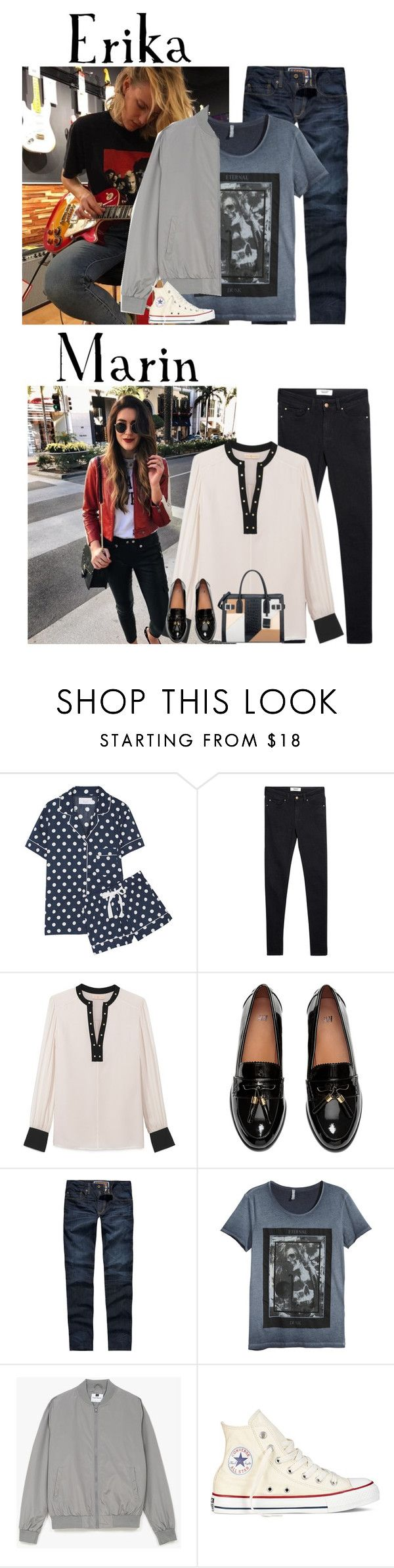 """""""Wednesday // Taking Landon to the Aquarium // 12/28/16"""" by graywolf520 ❤ liked on Polyvore featuring Three J NYC, MANGO, Tory Burch, H&M, Levi's, Topman, Converse, Nine West and MarinandErika"""