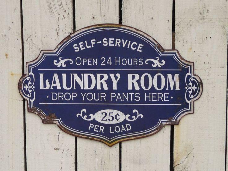 Primitive vintage style SELF SERVICE  LAUNDRY sign farmhouse Laundry room decor…