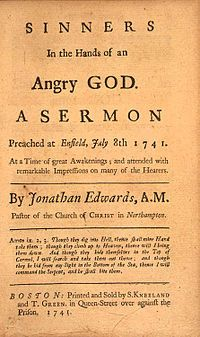 Jonathan Edwards ~ I once wrote a paper on this sermon, enjoyed the research!