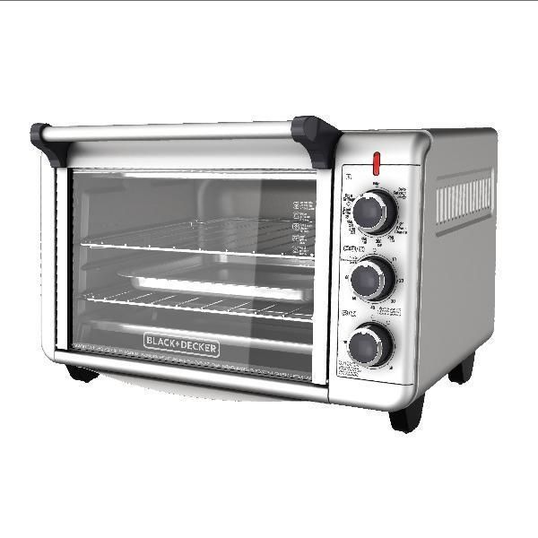 Stainless Steel Convection Countertop Toaster Oven Baking Cooking