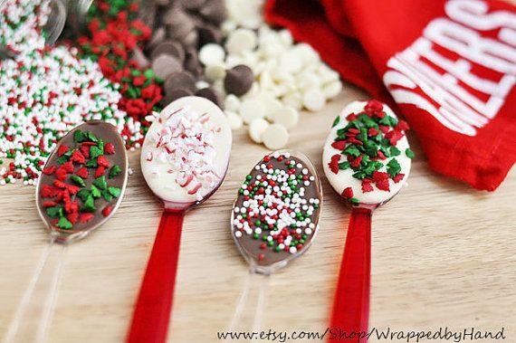 Weihnachten Schokolade gedeckte Löffel von ChristmasTreatShoppe
