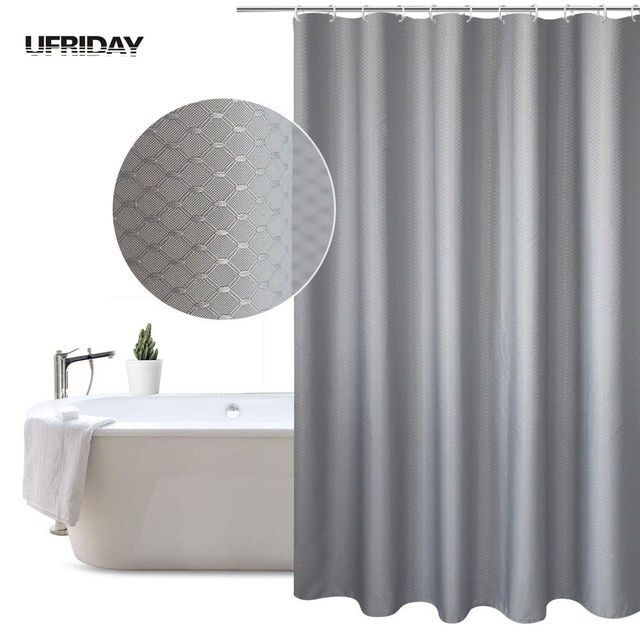 Ufriday Shower Curtain Waffle Weave Pattern Durable Charcoal Fabric Bathroom Curtain Waterproof Mildew Resistant Bath Curtain Review With Images Bathroom Curtains Curtains Shower Curtain