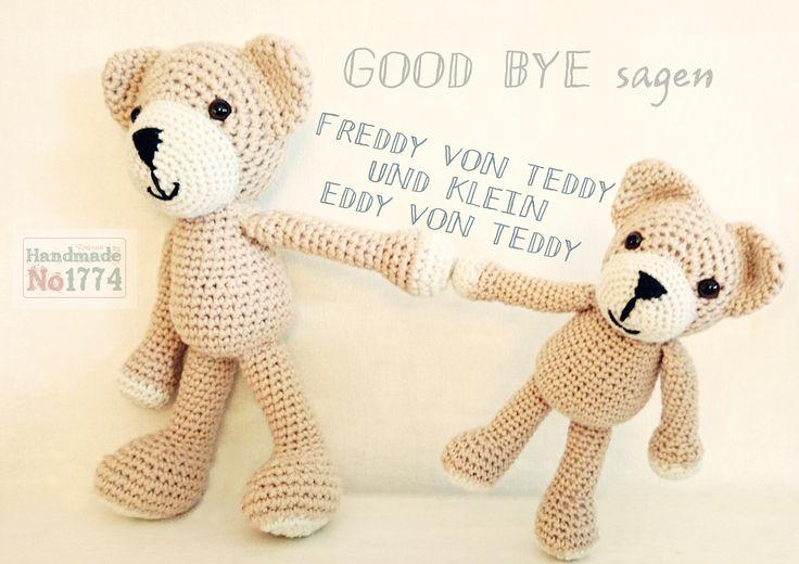 Teddy - Kuscheltier - crochet stuffed animal -  Bär - Vater und Sohn - Father and Son - Crochet