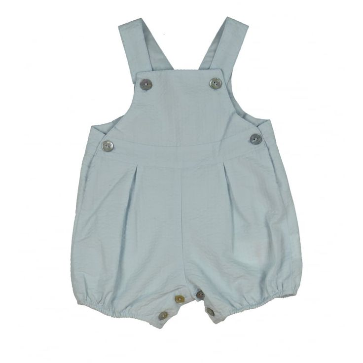 Baby Boys Blue Dungarees with Button Feature. Now available at www.chocolateclothing.co.uk