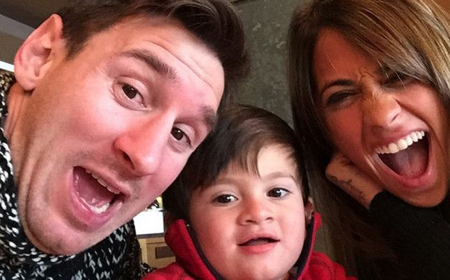 Barça: Antonella and Thiago wish to Messi a good Holiday of the fathers