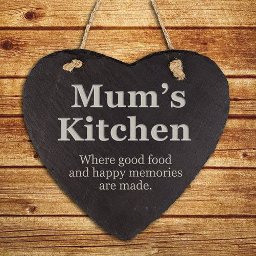 Personalised Mums Kitchen Hanging Slate Keepsake - yourgifthouse