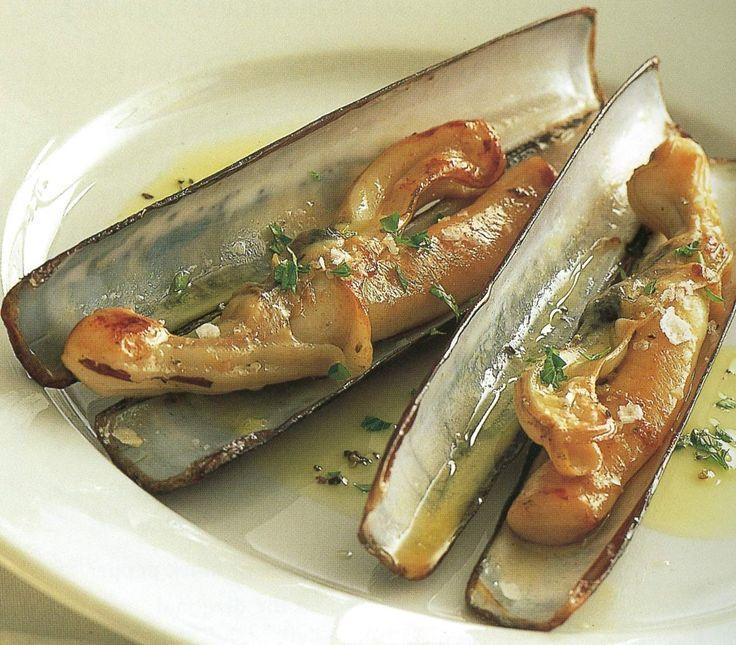 Razor clams a la plancha Recipe - eRecipe.com