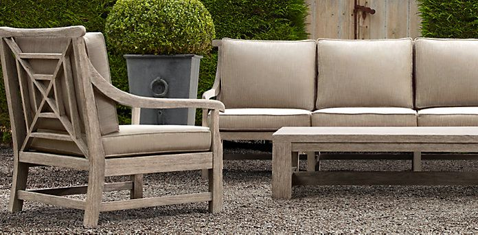 For the patio saltram collection restoration for Restoration hardware teak outdoor furniture
