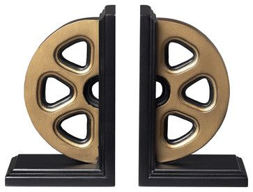 Movie Reel Book Ends traditional-bookends