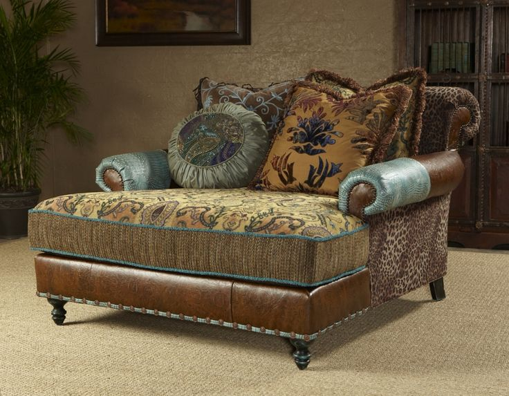 Chaise, high style, leather, fabric- this is gorgeous for a bigger bedroom & a bigger paycheck
