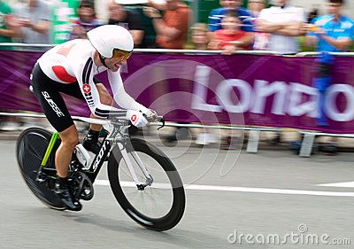 Swiss Cyclist Michael Albasini on the road in Surrey during the London 2012 Olympic Cycling Time Trial