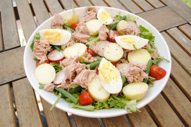 Niçoise salad...I probably wouldn't add the potatoes