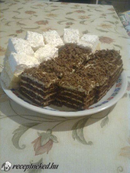 Hozzávalók: Tésztához: 700 g liszt 300 g cukor 125 g vaj 3 ek kakaópor 3 ek méz 1 ek szódabikarbóna 2 tojás 1 kk ecet Krémhez: 1 nagy konzerv sűrített tej