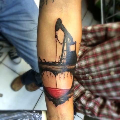 Image result for pump jack tattoo