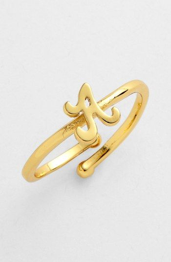 Ariella Collection Script Initial Ring Nordstrom   $18.00  Item #669637