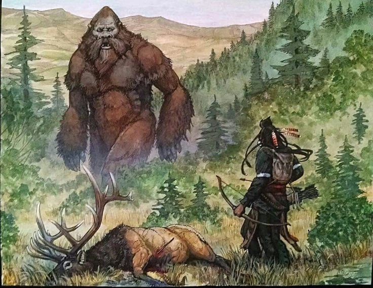 An overview of the bigfoot in the american mythology