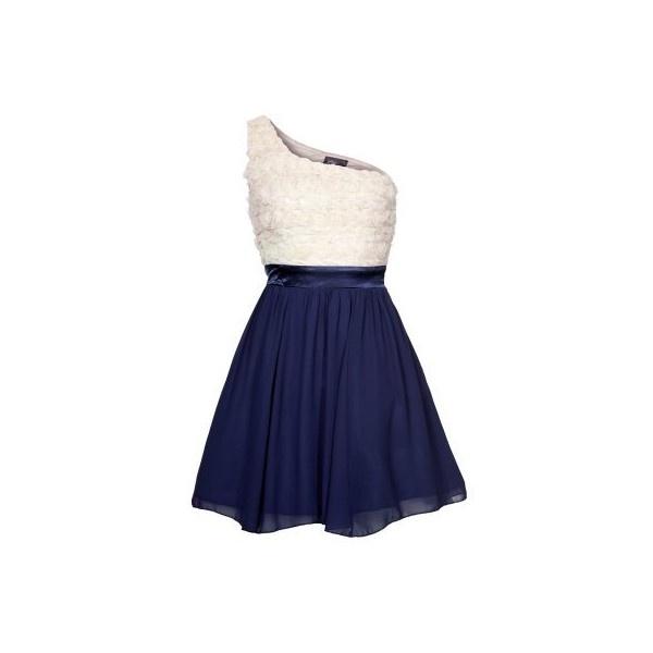 Little Mistress Vestito elegante blu ($83) via Polyvore
