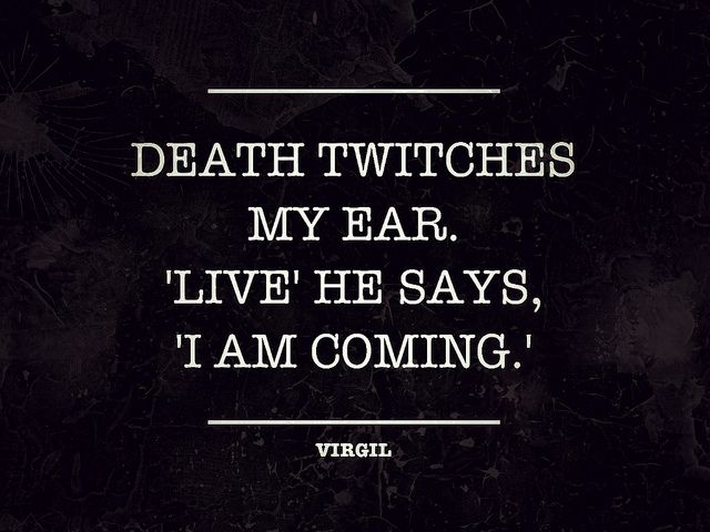 Death twitches my ear. 'Live' he says, 'I am coming.', via Flickr.    By zachrome