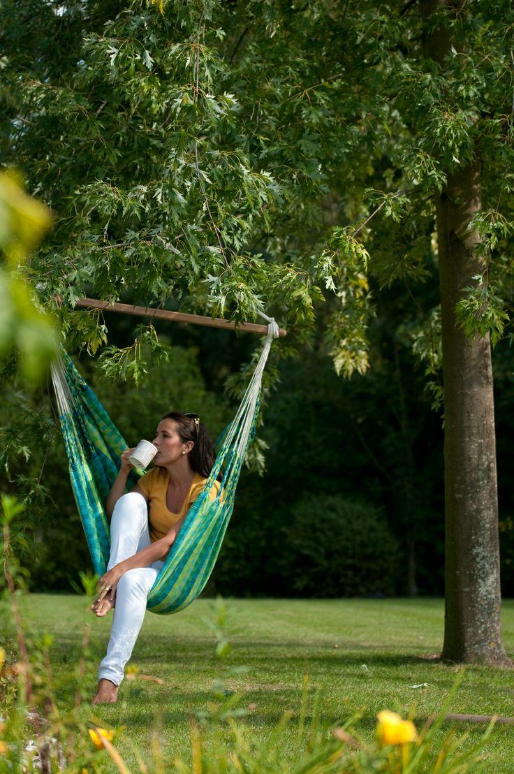 Carolina - spring hängstol i 100% bomullstyg för många sköna stunder. Carolina finns i 3 läckra färger.#hammock #chair #hangstol #hangmattestol #gungstol #sommar #uterum #garden #furniture #losandes