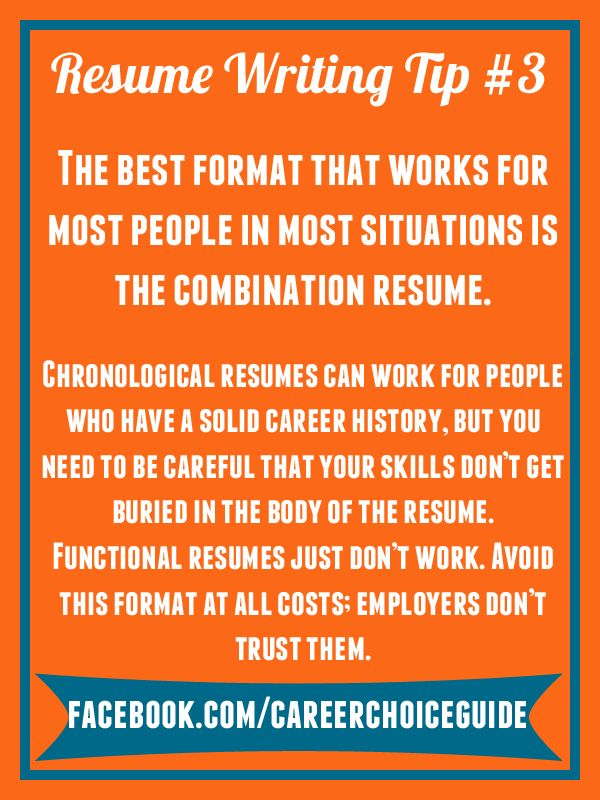 resume writing quick tip the best resume format the works for most people most of - Quick Resume