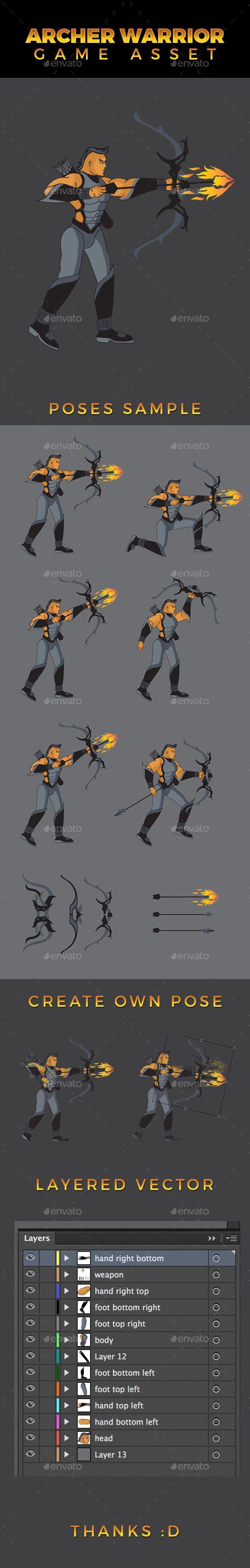 Archer Warrior Game Asset