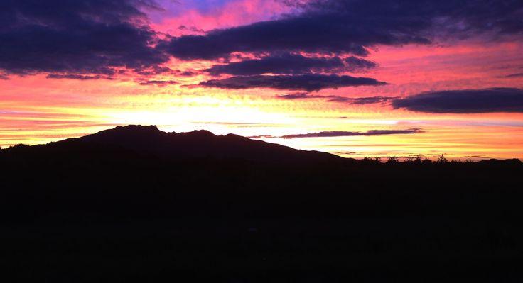 Mt. Karioi silhouette - Raglan, New Zealand