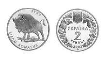 UCRANIA 2 hryven 2003 BISONTE  Ukraine BISON BONASUS