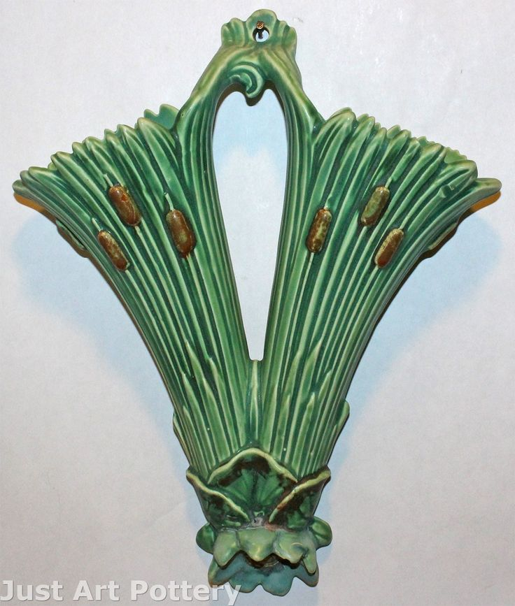 Weller Pottery Ardsley Double Wall Pocket from Just Art Pottery