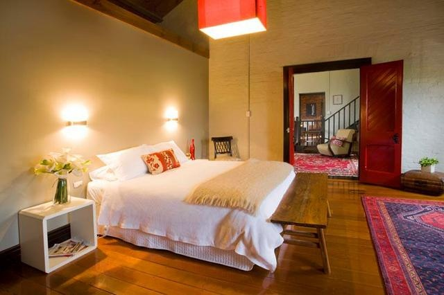 The Euroa Butter Factory, Red Room. Beautifully restored accommodation in Euroa.