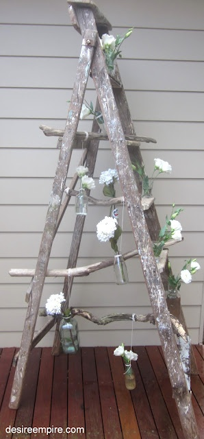 outside party decor - I have the crummy ladder ready to go!