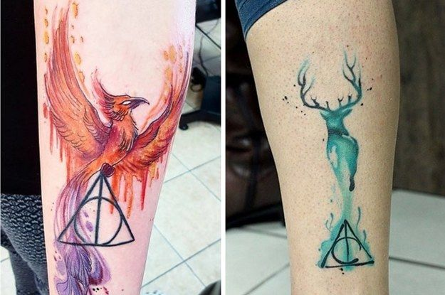 Except I'd have a black swan (my patronus) and Always instead of just the Deathly Hallows symbol