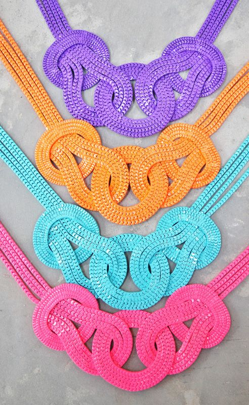 Bright, fun and full of colour!  Holiday | Zipper Necklace | Summer 2014  https://www.facebook.com/holidaytrading