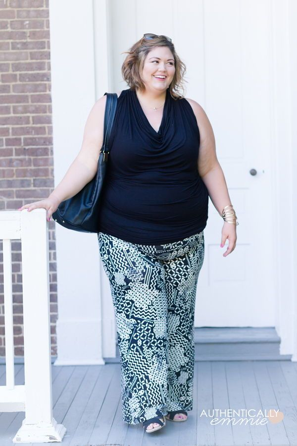 47895a9bae5e7 A easy breezy summer plus size outfit featuring wide leg palazzo pants and  a stretchy tank top from SWAK Designs. See more from Louisville plus size  blogger ...