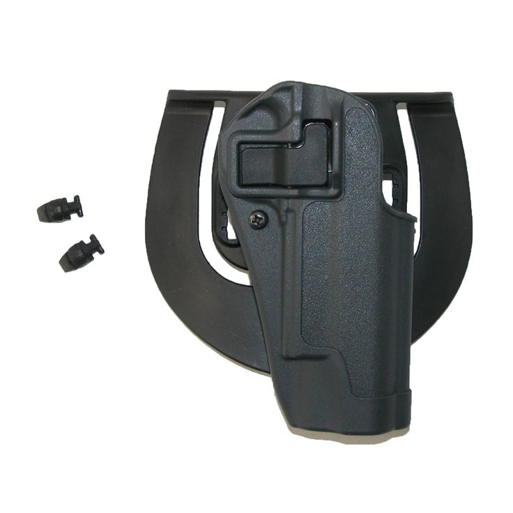 This holster has a molded finger groove that guides the index finger from the holster to the weapon in one swift, single movement. The advanced modular platform system accommodates for a variety of carry options.