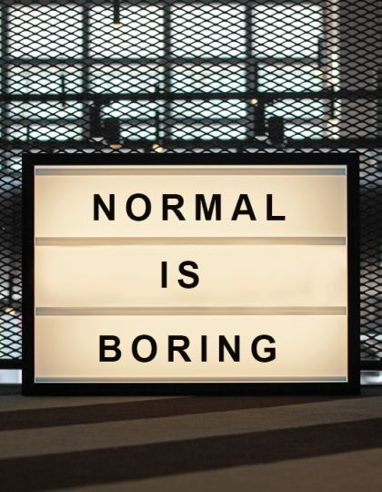 NORMAL IS BORING Lightbox from http://bxxlght.com Harley-Davidson of Long Branch www.hdlongbranch.com