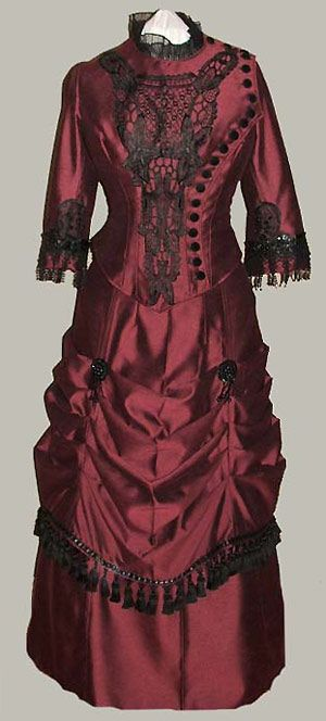 I really love the colors and lace on the bodice.  From www.bustledress.com