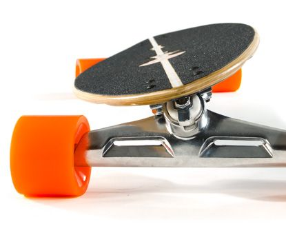 The Pintail 40 by Original Skateboards. The wheelbase needed for maneuverable carving and pedestrian dodging. 40 inches is no small peanuts though and allows ample room for wider stances and stance adjustments while riding.