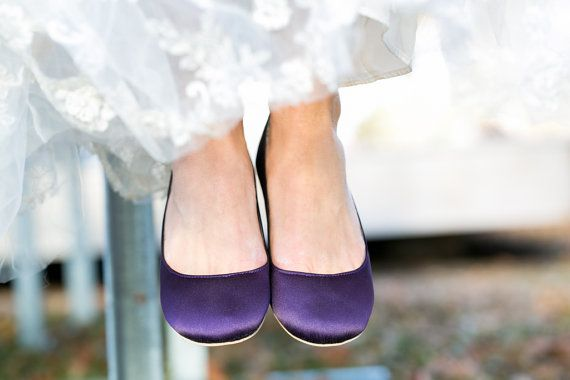 Purple Flats  Purple Wedding Shoes/Purple Wedding by walkinonair, $67.00