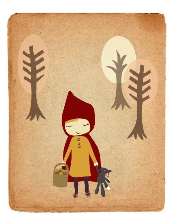 #illustration, #cappuccetto rosso